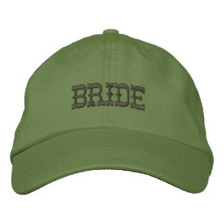 Embroidery Cowgirl Bride Baseball Cap