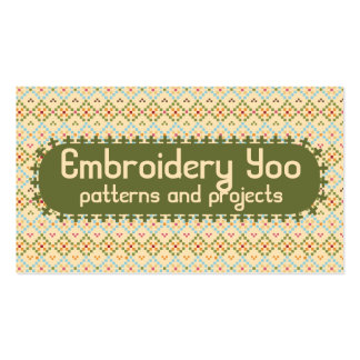 Embroidery cross stitch pixels sewing seamstress Double-Sided standard business cards (Pack of 100)