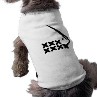 Embroidery Dog Tee Shirt