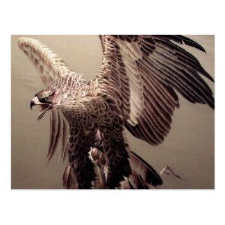 Embroidery Eagle Postcard