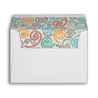 Embroidery fancy rumpled paper envelope