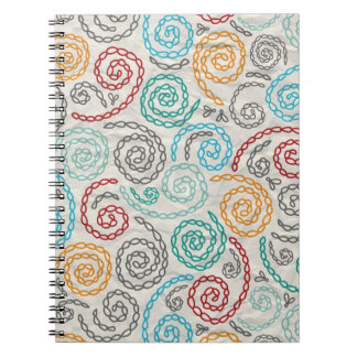 Embroidery fancy rumpled paper notebooks