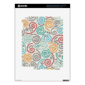 Embroidery fancy rumpled paper skin for iPad 3