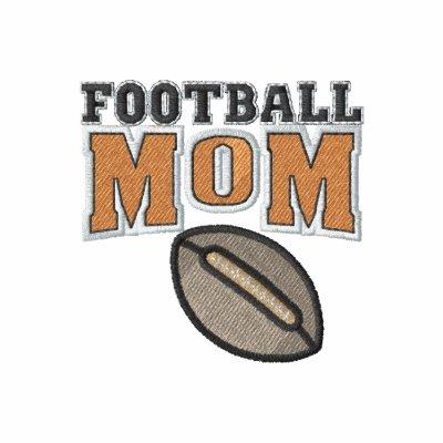Embroidery Football Mom Polo Shirt