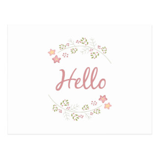 Embroidery_Hello Postcard