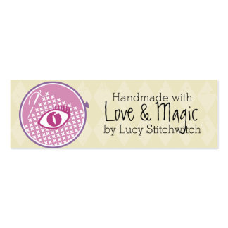 Embroidery hoop cross stitch seamstress mystic eye Double-Sided mini business cards (Pack of 20)