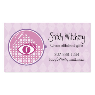 Embroidery hoop cross stitch seamstress mystic eye Double-Sided standard business cards (Pack of 100)