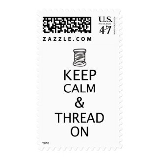 Embroidery Keep Calm Thread On Crafts Stamp