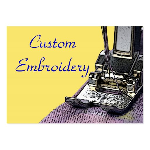 Embroidery Large Business Card