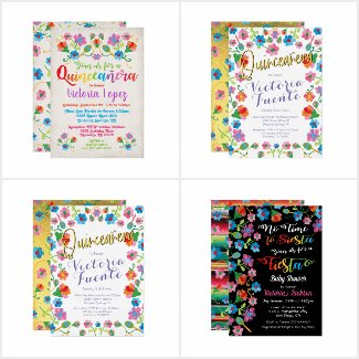 Embroidery Mexican Fiesta Invitations and more