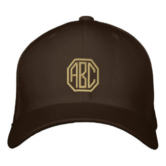 Embroidery Monogram Personalized Initials Embroidered Baseball Cap