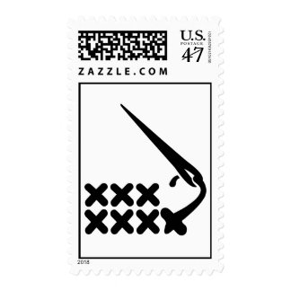 Embroidery Postage Stamp