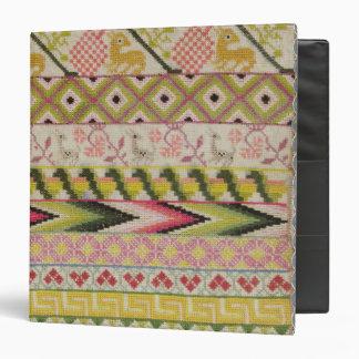 Embroidery sampler binder