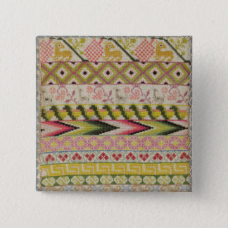 Embroidery sampler button