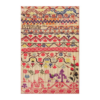 Embroidery sampler canvas print
