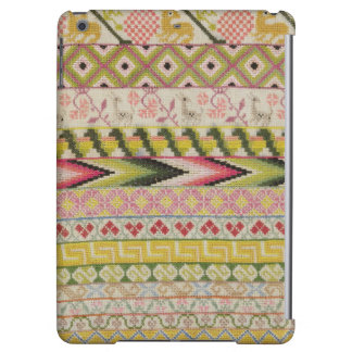 Embroidery sampler case for iPad air