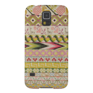Embroidery sampler galaxy s5 cases