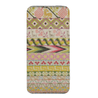 Embroidery sampler iPhone 5 pouch