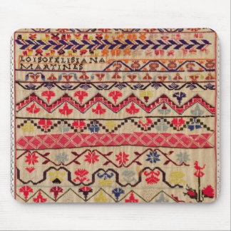 Embroidery sampler mouse pad