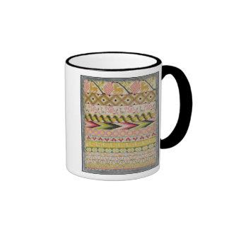 Embroidery sampler ringer mug