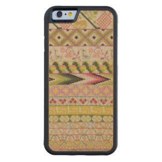 Embroidery sampler carved® maple iPhone 6 bumper case