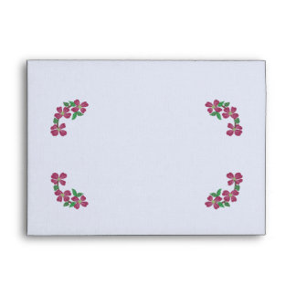 Embroidery Style Pink Dogwood Envelopes