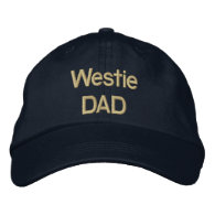 Embroidery Westie DAD Embroidered Baseball Cap