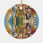 Embroideryr abstracto del rumano del vintage ornamento para arbol de navidad
