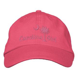 Embroidred Carolina Girl Palmetto Hat Baseball Cap
