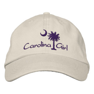 Embroidred Carolina Girl Script Palmetto Hat