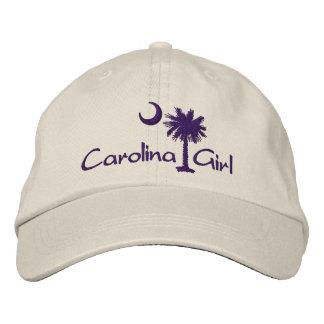 Embroidred Carolina Girl Script Palmetto Hat Baseball Cap