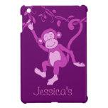 Embroma caso del ipad púrpura conocido del mono de