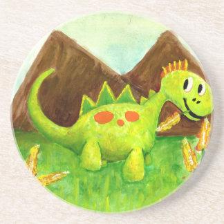Embroma el arnie feliz de Dino del dinosaurio del Posavaso Para Bebida