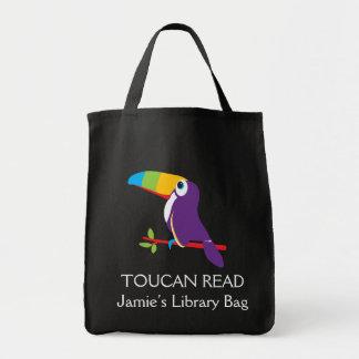Embroma el bolso leído toucan de la biblioteca del bolsa tela para la compra