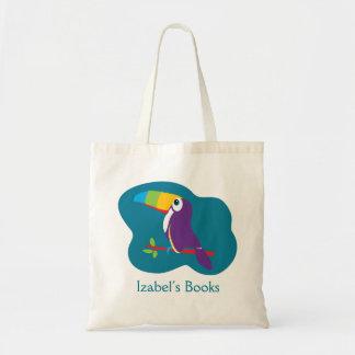 Embroma el bolso toucan de la biblioteca del arte