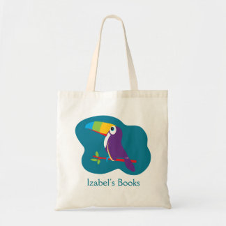 Embroma el bolso toucan de la biblioteca del arte bolsa tela barata