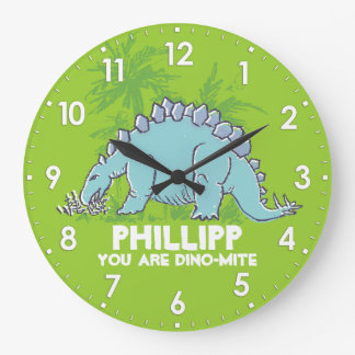 Embroma el reloj conocido azulverde del Stegosauru