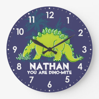 Embroma el reloj del nombre del verde azul del Ste