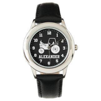 Embroma el reloj negro gris conocido del tractor