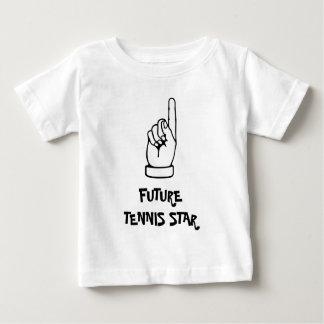 Embroma la camiseta con lema chistoso del tenis