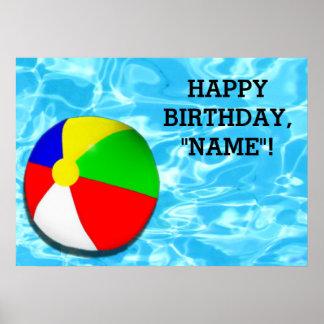 embroma la decoración de la fiesta de cumpleaños póster