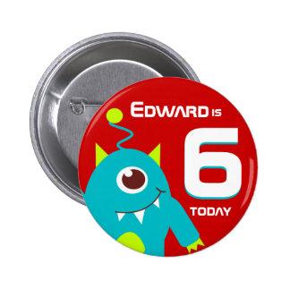 Embroma la insignia conocida extranjera del botón pin redondo de 2 pulgadas