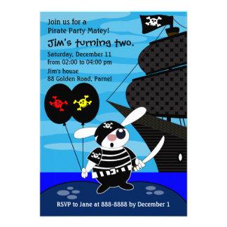 Embroma la invitación 033 del cumpleaños Pirata