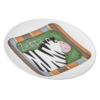Embroma la placa decorativa de la cebra de la dive plato para fiesta