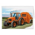 embroma la tarjeta de cumpleaños del tractor