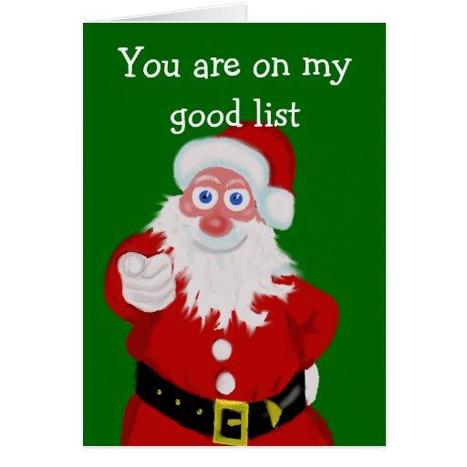 embroma la tarjeta de Navidad