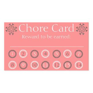 Embroma la tarjeta de sacador de la tarea tarjetas de visita