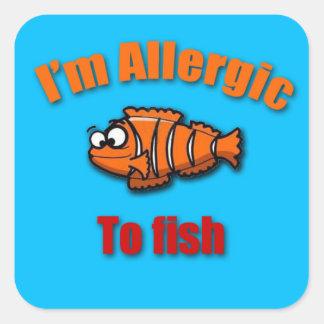 Embroma pescados alertas del pegatina de la