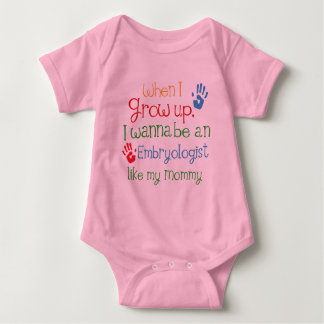 Embryologist (Future) Like My Mommy Baby Bodysuit