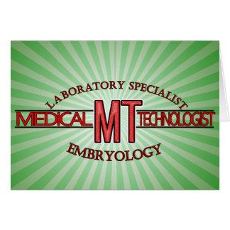 EMBRYOLOGY SPECIALIST LAB MT  MEDICAL TECHNOLOGIST CARD
